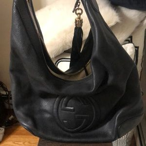 Authentic Black GUCCI Hobo bag